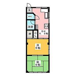 メゾン大江[1階]の間取り