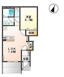 セレーマ[1階]の間取り