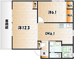 シャーメゾン秋吉[1階]の間取り