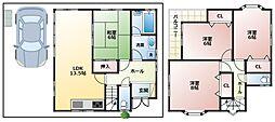松井邸 1階4LDKの間取り
