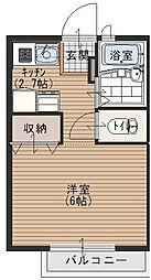ゴールドクレスト[1階]の間取り