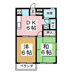 エクセレント南吉成 弐番館[2階]の間取り