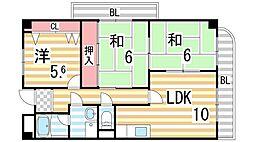 コンフォートステージII[3階]の間取り