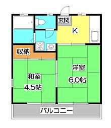 松梅勝園[2階]の間取り