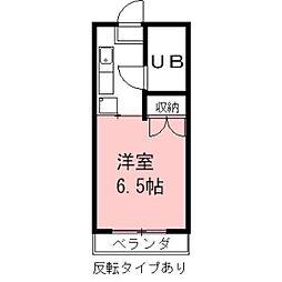 安田学研会館 西棟[608号室]の間取り