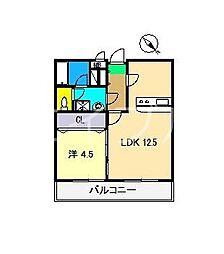 グランビュー[5階]の間取り