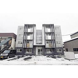 北海道札幌市西区八軒三条西2丁目の賃貸マンションの外観