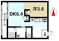 帝塚山センチュリーアネックス[3階]の間取り