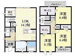 大阪モノレール本線 少路駅 徒歩19分の賃貸テラスハウス 1階3LDKの間取り