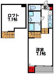 福岡県古賀市千鳥2丁目の賃貸アパートの間取り