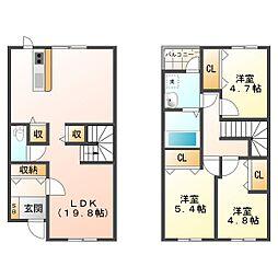 [テラスハウス] 三重県亀山市田村町 の賃貸【/】の間取り
