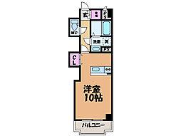 愛媛県東温市北方の賃貸マンションの間取り