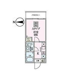 JR横浜線 十日市場駅 徒歩7分の賃貸アパート 2階1Kの間取り