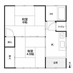 大澤荘A棟[2階]の間取り