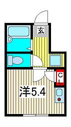 埼玉県蕨市塚越2丁目の賃貸アパートの間取り