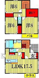 [一戸建] 埼玉県越谷市大間野町1丁目 の賃貸【/】の間取り