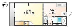 オレンジHILL T[4階]の間取り