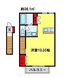 パレス藤II[2階]の間取り