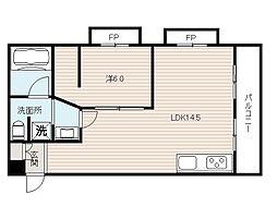 コーポ白鷺[4階]の間取り
