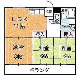 リバータウン蔵前 2階[201号室]の間取り