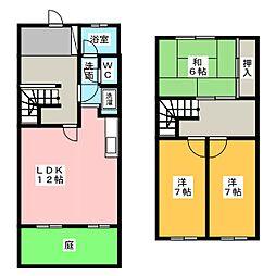 [テラスハウス] 愛知県名古屋市名東区八前3丁目 の賃貸【愛知県 / 名古屋市名東区】の間取り
