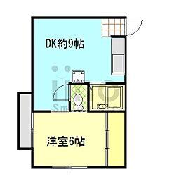ヴィラ横須賀B[302号室]の間取り