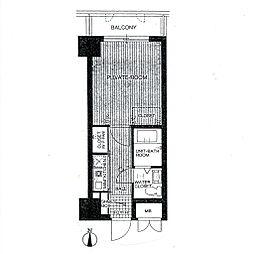 フローリッシュ大濠[4階]の間取り