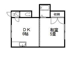 ドミ麻生I[3号室]の間取り