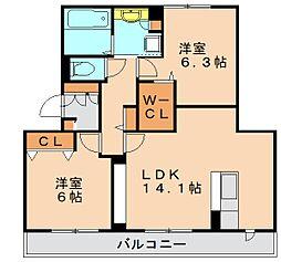 ジョアセジュール博多南 2号館[2階]の間取り