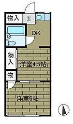 第2日興荘[1階]の間取り