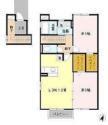 コ−トハウスIII[2階]の間取り