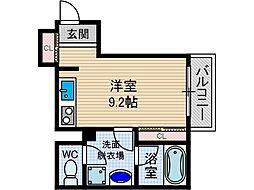 山崎マンション14[2階]の間取り