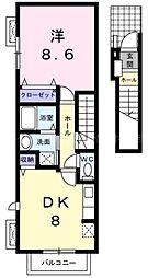 香川県高松市宮脇町1丁目の賃貸アパートの間取り