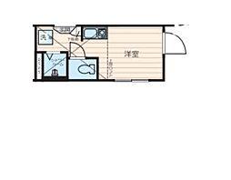 JR山手線 高田馬場駅 徒歩21分の賃貸アパート 1階ワンルームの間取り