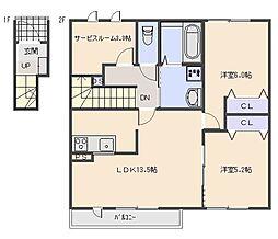 Maison en bois (メゾン オン ボワ)[203号室]の間取り