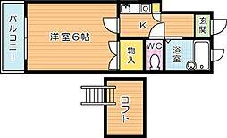 センチュリー八千代[1階]の間取り
