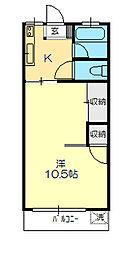 中央マンション[1階]の間取り