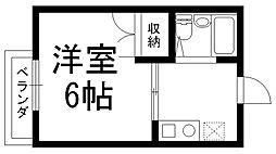 クレール白井[0201号室]の間取り