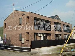 香川県高松市三谷町の賃貸アパートの外観