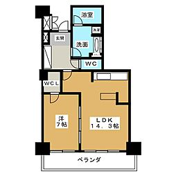 グランスイート千種タワー[9階]の間取り