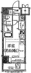 クラリッサ川崎ブルーノ 3階ワンルームの間取り