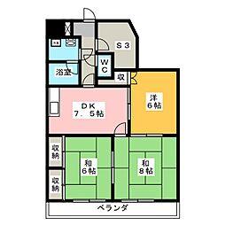 メゾンドベル5[4階]の間取り
