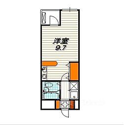 グリーンヴュー[3階]の間取り