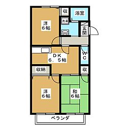 パルカーサ南京都[2階]の間取り