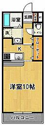 マンションプラチード[207号室]の間取り