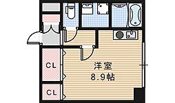 コスタ河堀口[303号室]の間取り