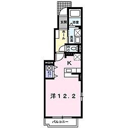 東京都小平市小川西町5丁目の賃貸アパートの間取り