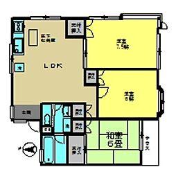 勝田台マリーナハウスII[102号室]の間取り