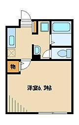 神奈川県川崎市麻生区万福寺1丁目の賃貸アパートの間取り