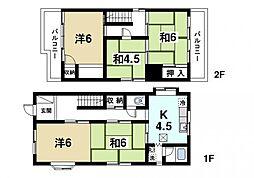 [一戸建] 奈良県奈良市古市町 の賃貸【奈良県 / 奈良市】の間取り